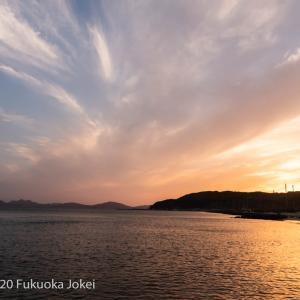 福岡風景写真 海の中道 夕景