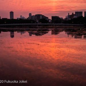 福岡情景 大濠公園 秋の夕景 その2
