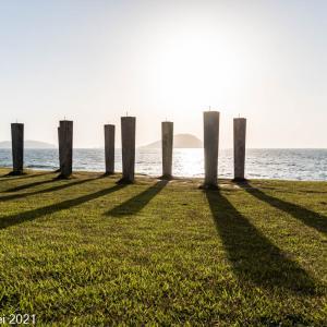 博多湾情景 志賀島 下馬ヶ浜海水浴場夕景 2021年5月