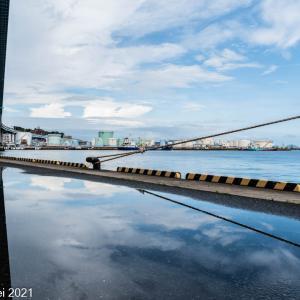 博多湾情景 豪雨の後の須崎埠頭 2021年8月1日