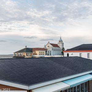 博多湾情景 雲の百道浜風景 2021年9月