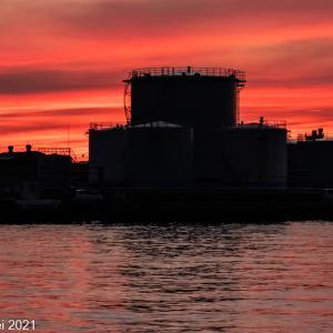 博多湾情景 須崎埠頭夕景 2021年9月11日