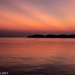 糸島夕景 静かな弁天橋の夕景 2021年9月 後編 マジックアワー