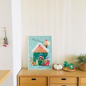 LaQ(ラキュー)とポスターでクリスマスインテリア*