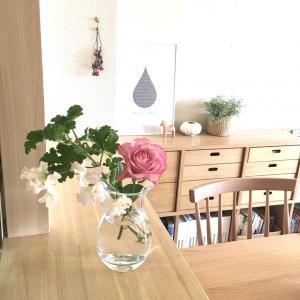 【冷蔵庫下の掃除】花のあるリビングで爽やかに^^