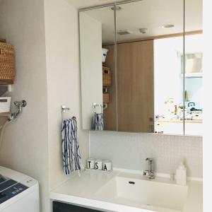 洗面台の錆びた鏡が劇的変身!使ったタイルシートはコレ!