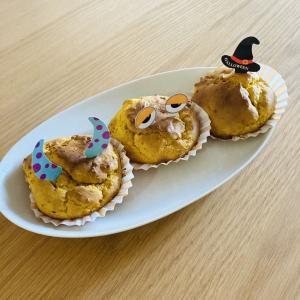 Happy Halloween!!かぼちゃのマフィンを作ってみました*