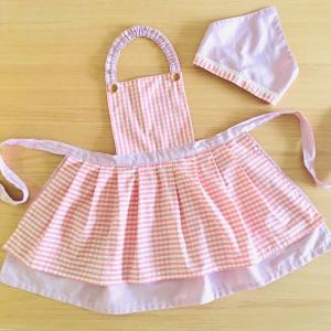 子どものエプロンと三角巾を手作り*