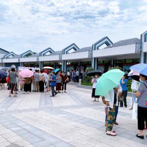 蘇州・桂花公園のお見合いコーナーを見物する