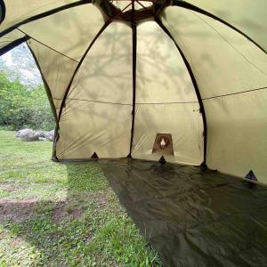 バランゲルドームを「ハーフお座敷」仕様にできるグラウンドシートをカスタムオーダー