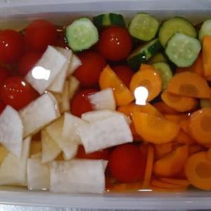 今週も夏野菜の浅漬け!