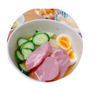 冷麺とエビちゃん♡
