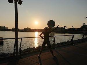 6日目の朝RUNはディズニー・スプリングス!