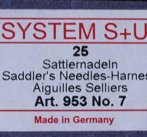 ◆ 入荷/SYSTEM S+U(手縫針)/リネン糸・ポリ糸 ◆