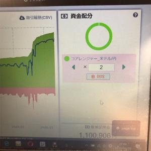 インヴァスト証券のトライオートFXで10万通貨取引して10000円