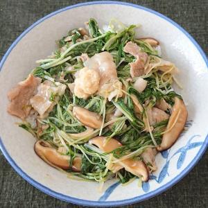 豚肉と水菜のあんかけ丼