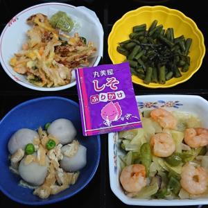 小海老と野菜の炒めもの、他の弁当