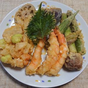 エビと野菜の天ぷら盛り合わせ