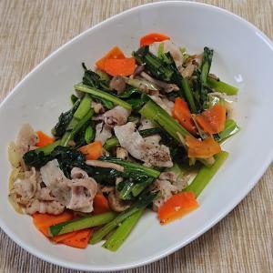 豚肉と小松菜他の炒めもの