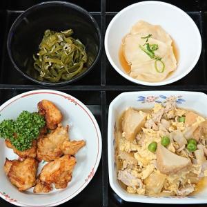 豚肉と厚揚げの卵とじ、他の弁当