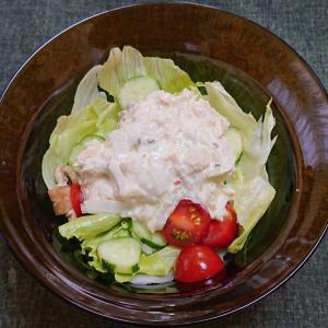 ツナマヨネーズと野菜のサラダ