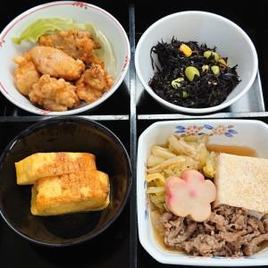 肉豆腐と厚焼き玉子他の弁当