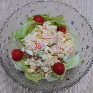 ゆで卵と野菜のボリュームサラダ