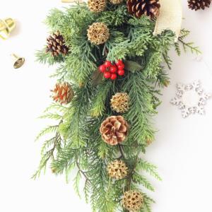今年のクリスマスは「スワッグ」を飾りました