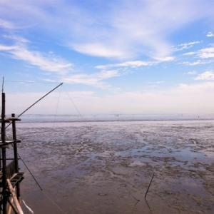 懐かしい四手網漁