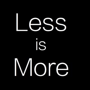 Less is More.でお金の計算をしなくなる?得られるものは脳の容量とちょっとの時間。