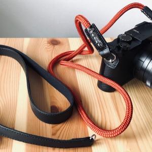 斜めがけするカメラストラップの長さについて。LEICA Q2用のロープストラップを探して。