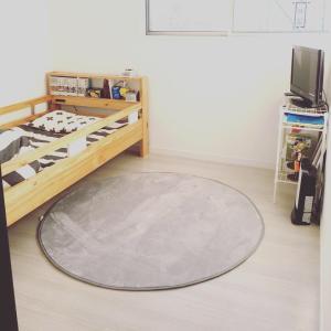 【子供部屋】円形ラグでやっと冬仕様にチェンジ
