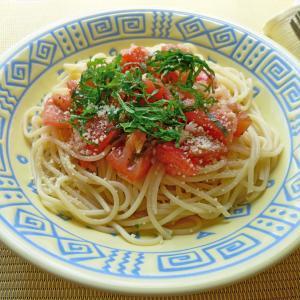 焼肉のたれで作る、トマトのうまうま冷製パスタ