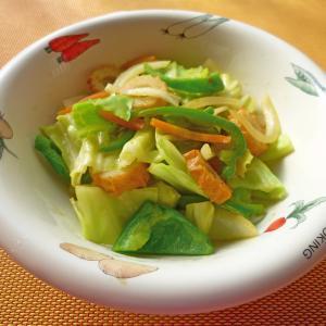 野菜と竹輪のカレーポン酢炒め
