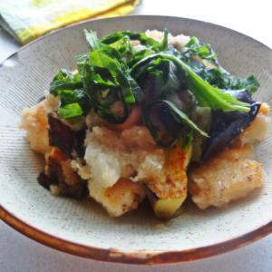 鶏ぬね肉とナスのさっぱりおろし煮