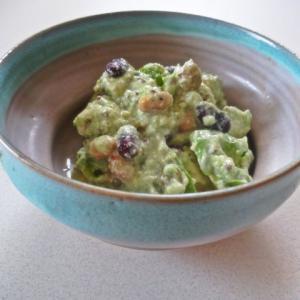 アボカドとお豆のヨーグルトサラダ