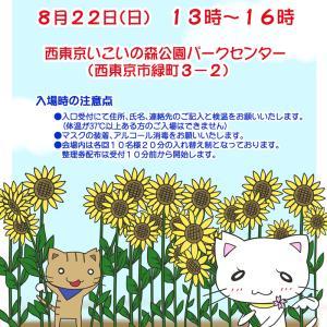 8月22日【譲渡会のお知らせ/いこいの森公園】