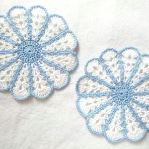レース編み☆お花のコースター