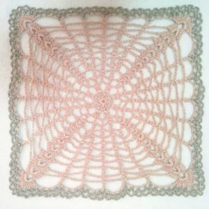 レース編みの四角形のドイリー☆30g以内でできるプチレース編み62点