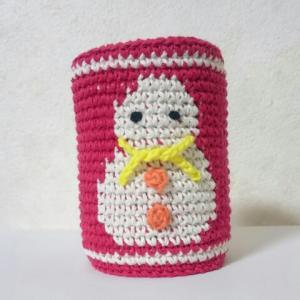 雪だるまの編みこみ模様