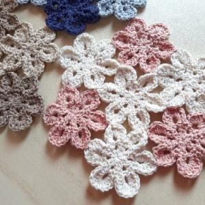 花モチーフのドイリー ~モチーフ&ブレードでつくる かわいいかぎ針編み~