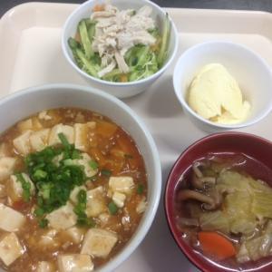 マーボー丼と天ぷら