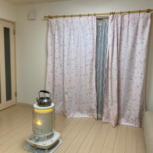 リビングのカーテンを買いました。キッチンマットとかの断捨離。