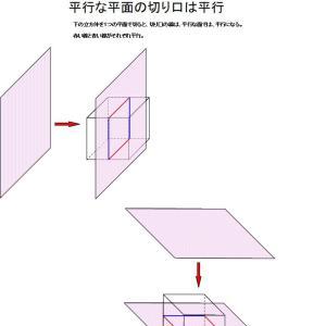 立方体の切り口の教科書を差し上げます。