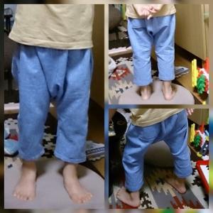 息子ズボン製作
