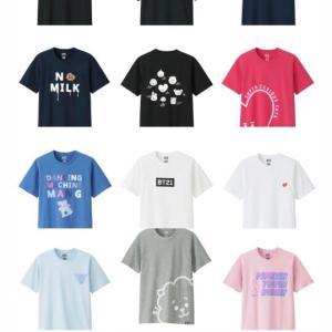 BTSとユニクロのコラボTシャツ発売!