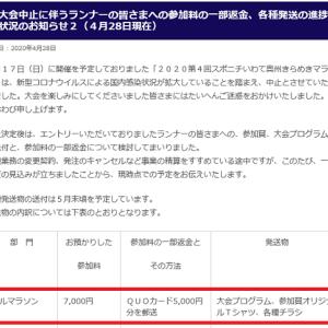 [いわて奥州きらめき]大会中止に返金の流れが( ^)o(^ )