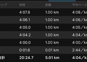 """[本日のラン]薄暮の公園での5km閾値走 キーワードは""""いいリズム""""(^_-)-☆"""