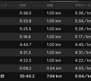 [本日のラン]月間300kmへの道も一歩から( ^)o(^ )