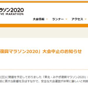 [東北・みやぎ復興マラソン]大会中止決定( 一一)
